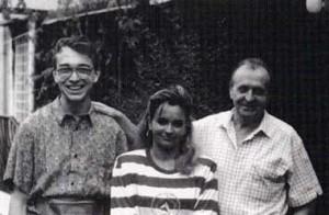 Claudio Piccinini con Sabina e Romano Scarpa.