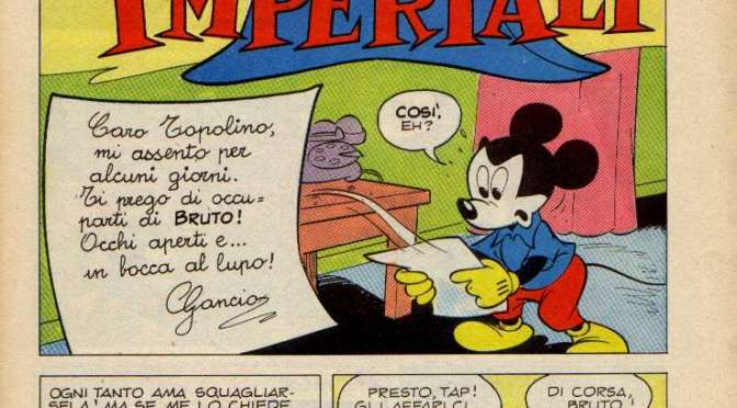 Topolino e i bottoni imperiali su Disney BIG #79
